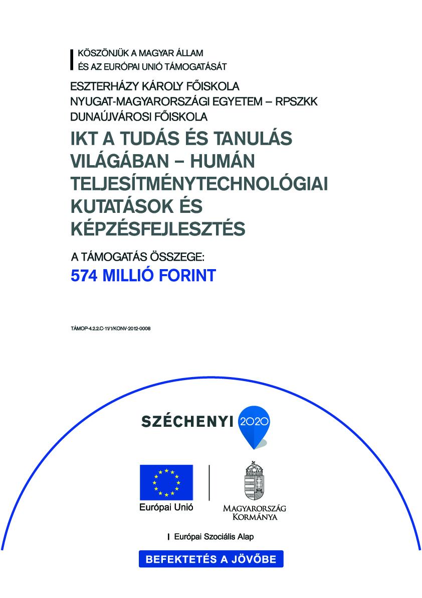 IKT a tudás és tanulás világában – humán teljesítménytechnológiai (Human Performance Technology) kutatások és képzésfejlesztés (TÁMOP-4.2.2.C-11/1/KONV-2012-0008)