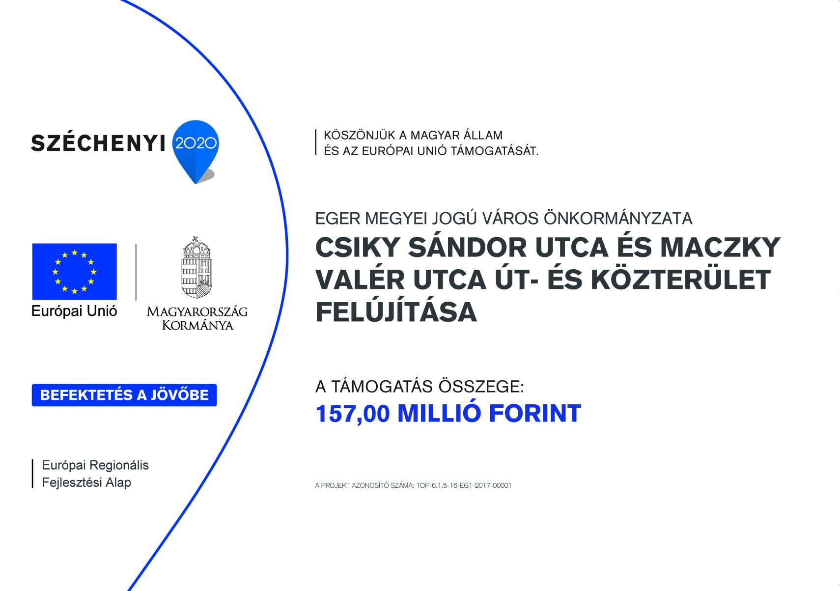 Csiky Sándor utca és Maczky Valér utca út- és közterület felújítása