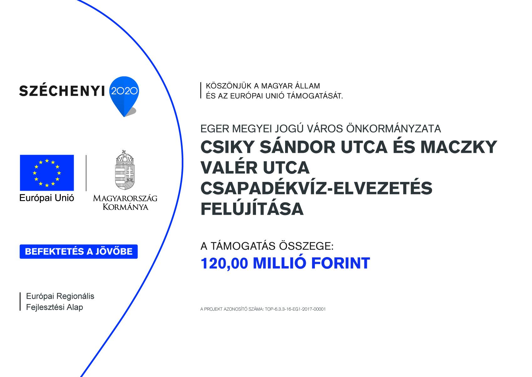 Csiky Sándor utca és Maczky Valér utca csapadékvíz-elvezetés felújítása