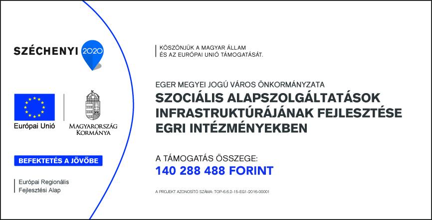 Szociális Alapszolgáltatások Infrastruktúrájának fejlesztése egri intézményekben