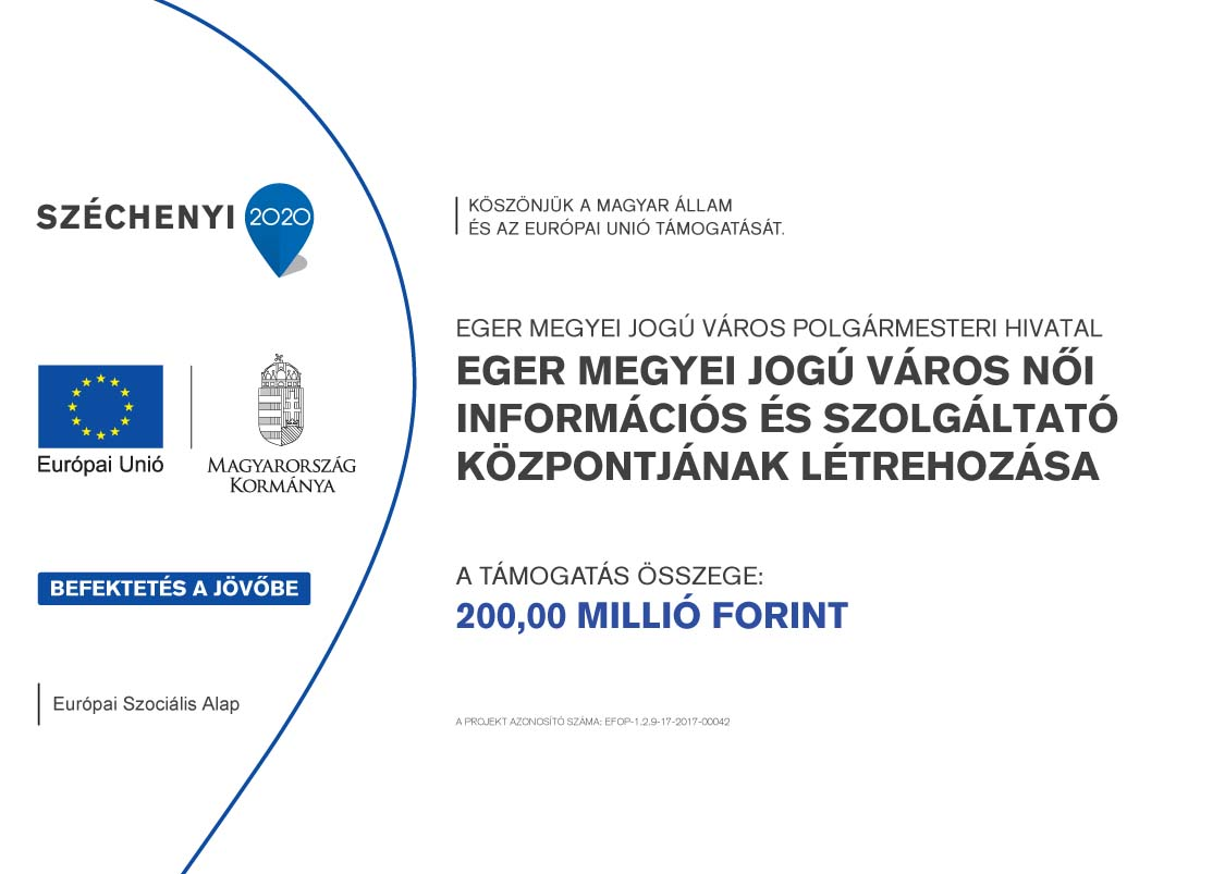 Eger Megyei Jogú Város Női Információs és Szolgáltató Központjának létrehozása