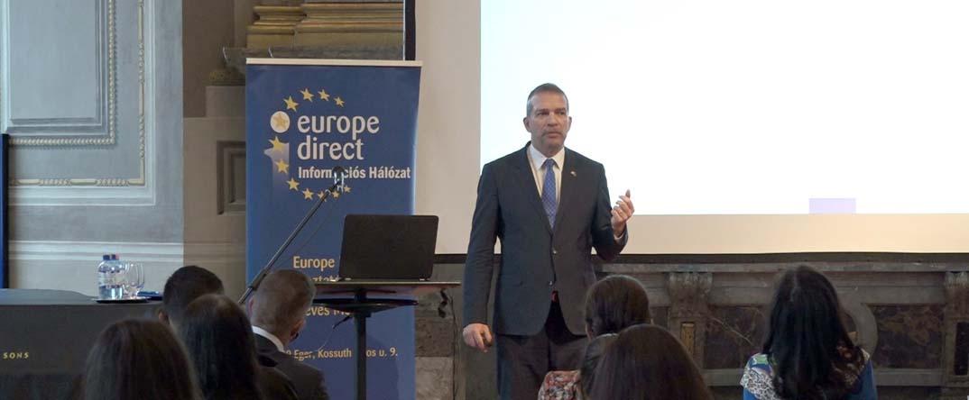 Európa jövőjéről tartottak előadást az egyetemen