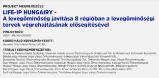 LIFE-IP HUNGAIRY - A levegőminőség javítása 8 régióban a levegőminőségi tervek végrehajtásának elősegítésével